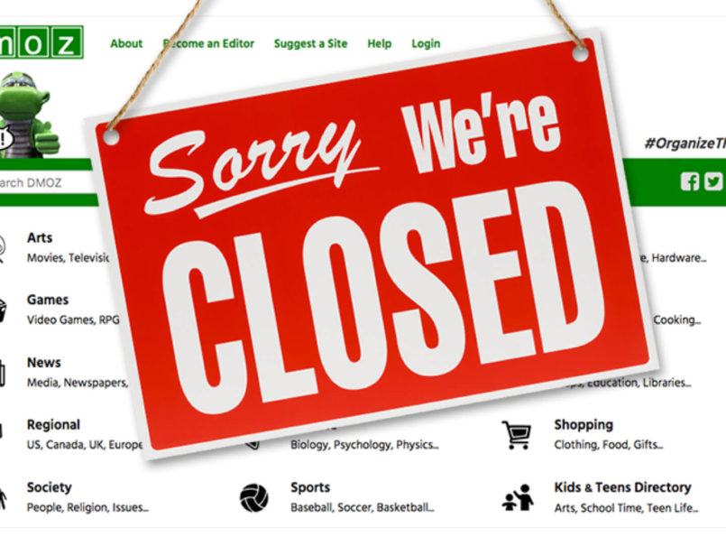 DMOZ has officially closed | Open Directory Website is closing